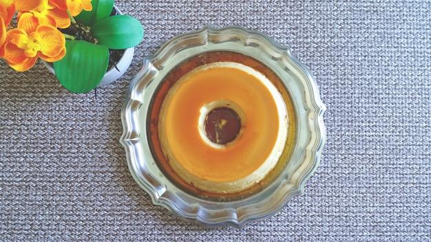 Budino al latte caramellato. delizioso dolce tradizionale brasiliano.