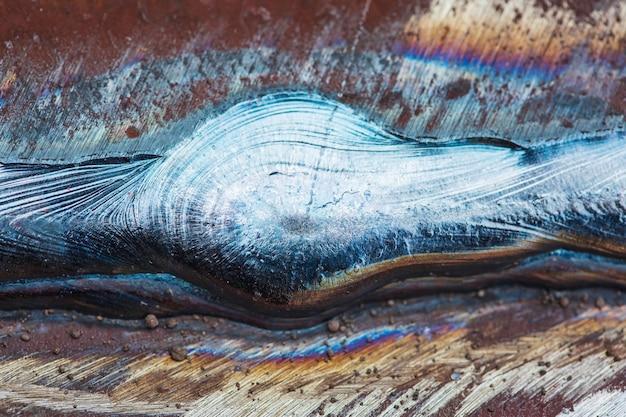 Piastra di giunzione saldata in acciaio al carbonio mediante processo di saldatura ad arco metallico dello schermo