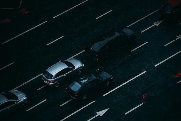 Auto nel traffico viste dall'alto