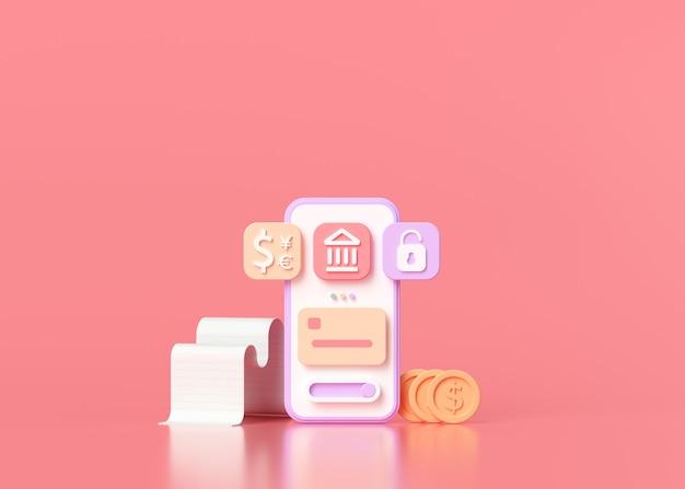 Società senza contanti, mobile banking online e pagamento sicuro