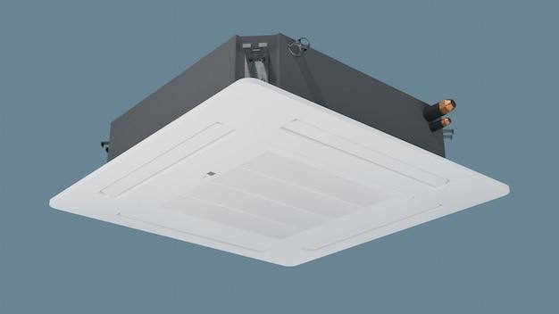 Rendering 3d del condizionatore d'aria a cassetta da incasso a soffitto