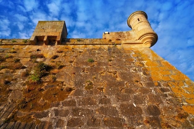 Castelo san anton a la coruna della galizia in spagna