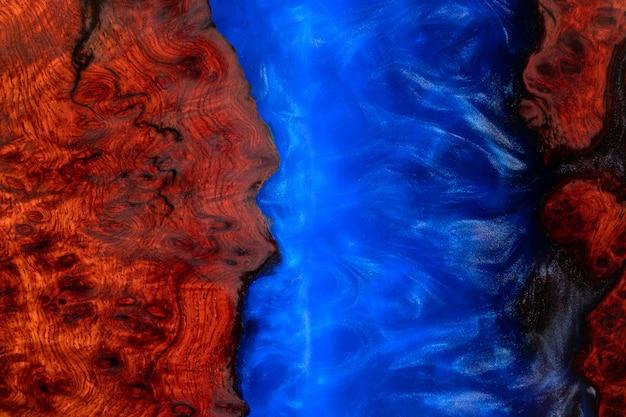 Colata di resina epossidica padauk legno texture di sfondo