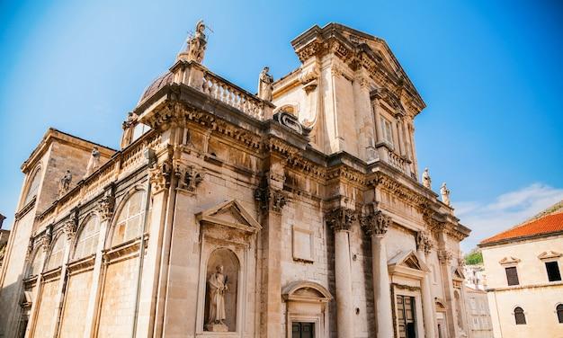 La cattedrale dell'assunzione della vergine maria a dubrovnik, croazia