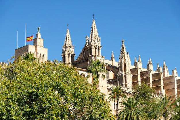 La cattedrale di santa maria di palma de mallorca, in spagna Foto Premium