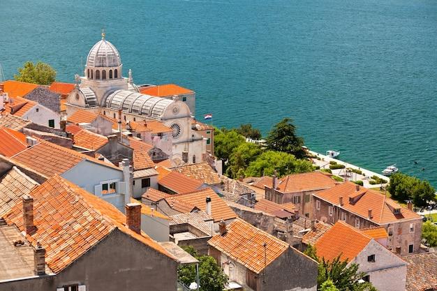 Cattedrale di san giacomo a sibenik, croazia. sito patrimonio dell'umanità dell'unesco