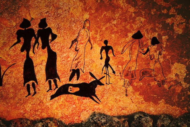 Pittura rupestre del comune primitivo