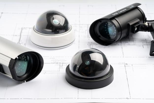 Telecamera online di sicurezza cctv con piano casa