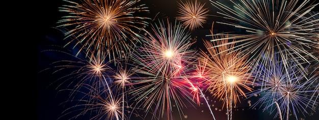 Titolo festivo del fuoco d'artificio del nuovo anno di celabration