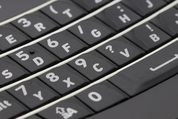 La tastiera del telefono cellulare si chiuda. macro