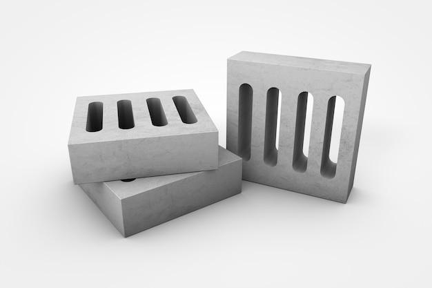 Illustrazione 3d di griglie di cemento