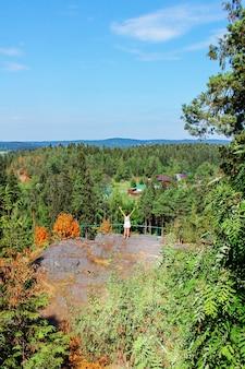 Parco centrale di sortavala. viaggio in russia. repubblica di carelia. natura del nord