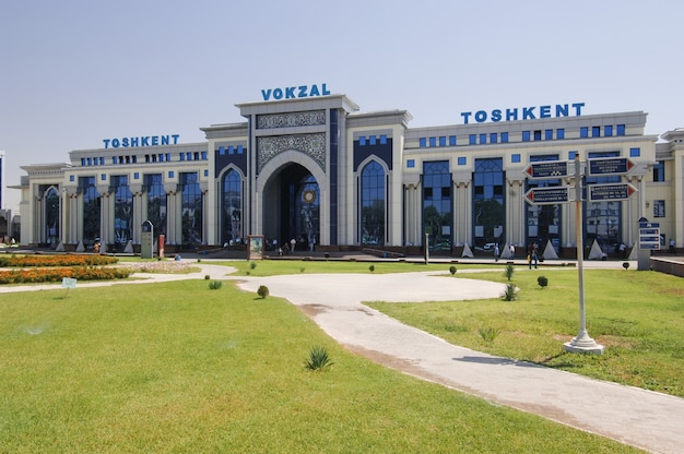 Stazione ferroviaria centrale di tashkent, uzbekistan