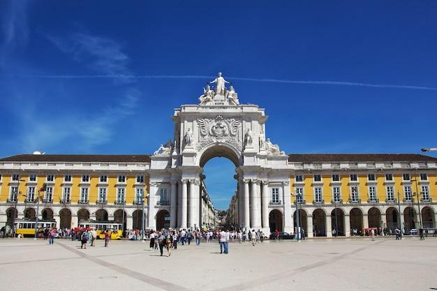 La piazza centrale della città di lisbona, portogallo