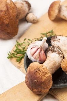 Funghi porcini con aglio