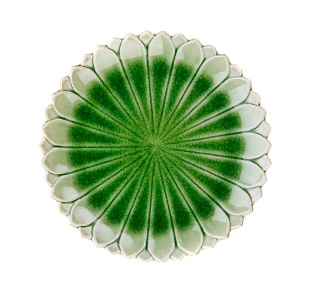 Zolla di ceramica isolata su spazio bianco