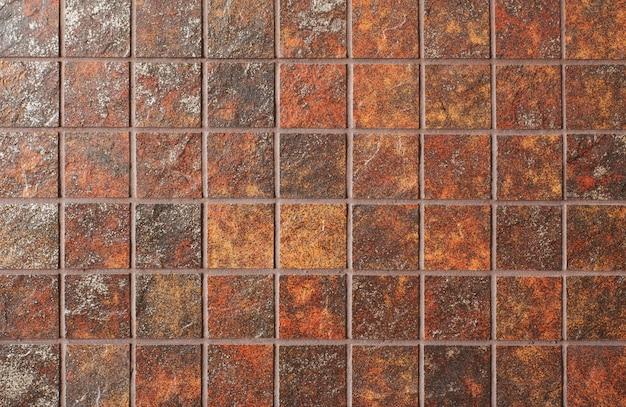 Fondo rustico rosso ceramico delle mattonelle