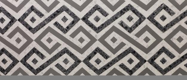 Piastrella in ceramica con motivo a mosaico geometrico astratto per la cucina Foto Premium
