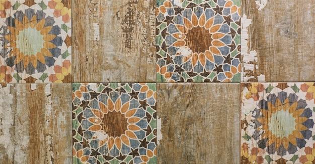 Piastrella in ceramica con motivo a mosaico geometrico astratto per la cucina