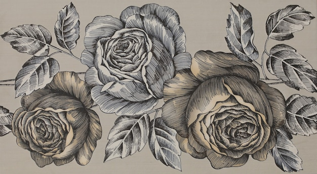 Piastrella in ceramica con motivo floreale ornamentale astratto per cucina