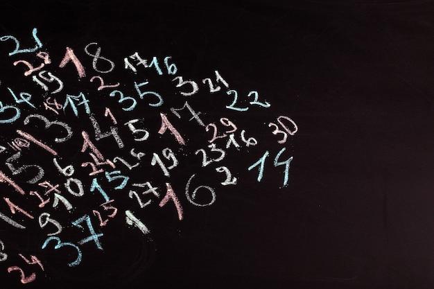 Numeri di scuola di lavagna