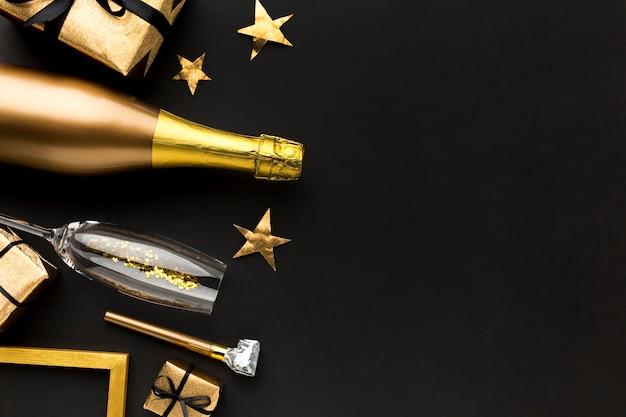 Bottiglia di champagne per la festa