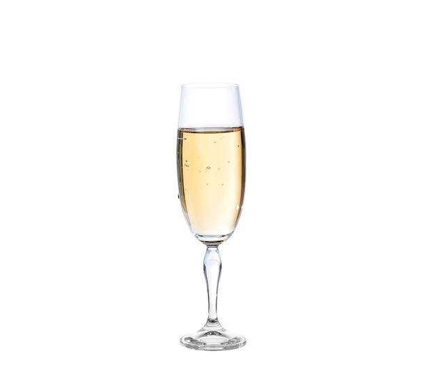 Bicchiere di champagne. isolato su bianco