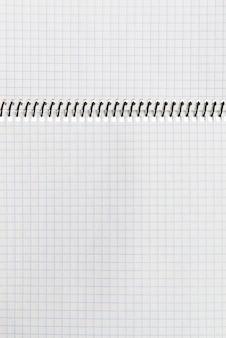 Sfondo di quaderno di carta a scacchi