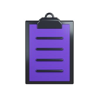 Icona di elenco di controllo isolato su bianco