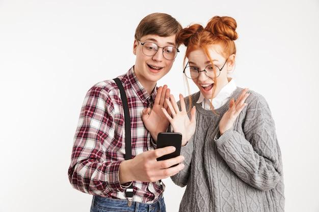 Allegro paio di nerd della scuola