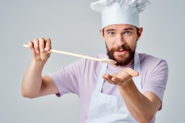 Grembiuli da chef maschili allegri da cucina professionale