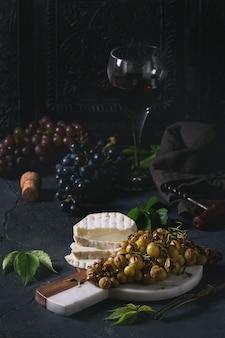 Formaggio e uva