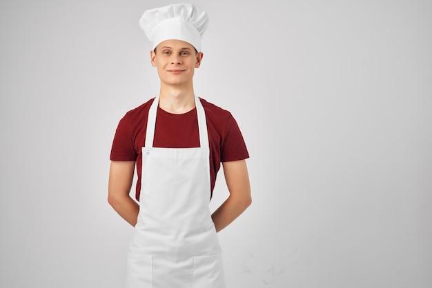 Grembiule da chef per cucinare cibo ristorante professionale. foto di alta qualità