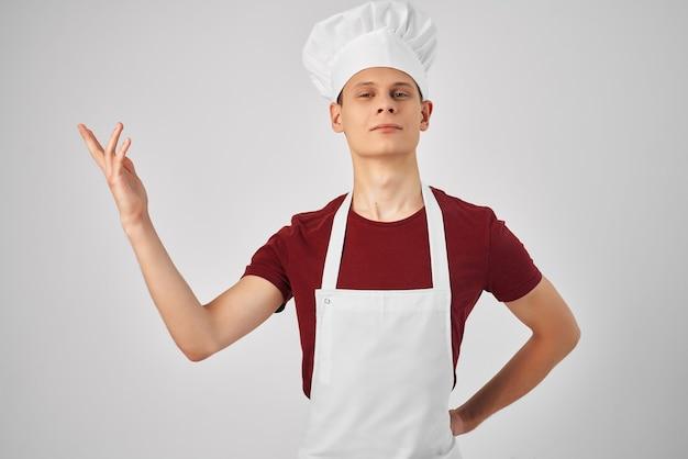 Grembiule da chef per cucinare cibo ristorante professionale