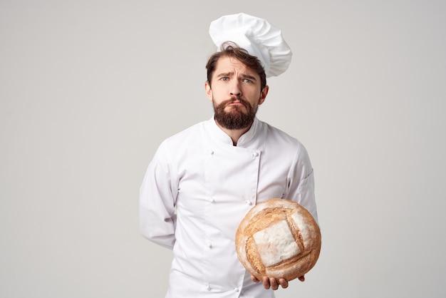 Chef ristorante fornitura di servizi sfondo isolato