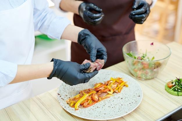 Piatto da cucina per chef