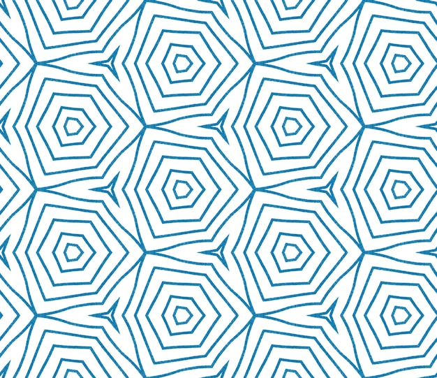 Design a strisce chevron. fondo simmetrico blu del caleidoscopio. stampa impressionante pronta per il tessuto, tessuto per costumi da bagno, carta da parati, involucro. motivo a righe geometriche chevron.