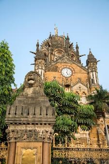 Chhatrapati shivaji terminus a mumbai, in india.