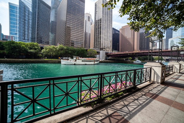 Chicago river a chicago, illinois