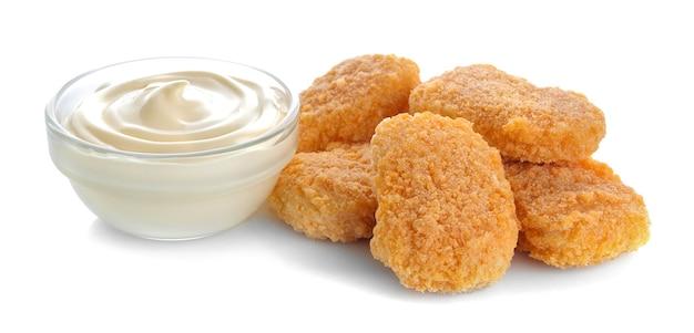 Bocconcini di pollo con salsa bianca fast food