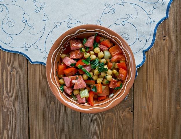 Chorizo di ceci e spinaci in umido questo spezzatino, come tutti quelli della catalogna.
