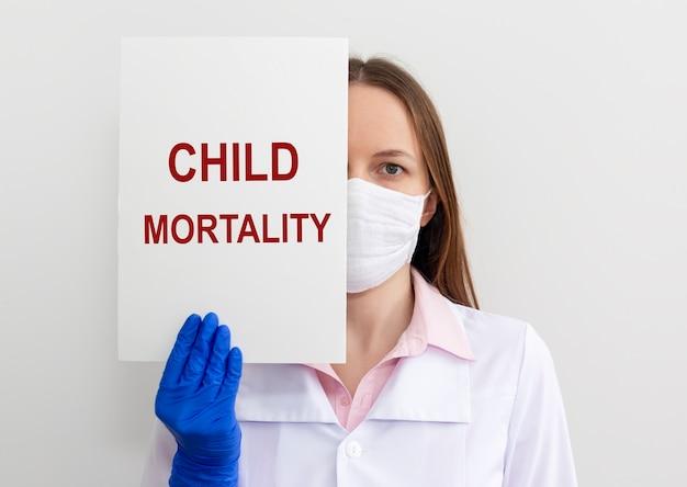 Iscrizione di mortalità infantile, concetto di tasso di mortalità infantile.