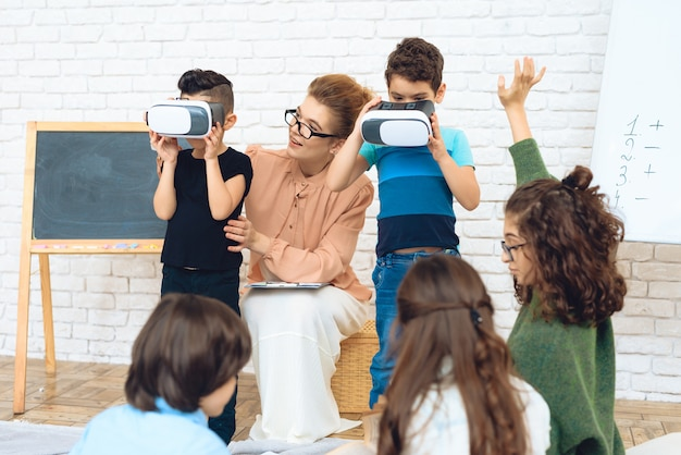 Conoscenza dei bambini con le alte tecnologie
