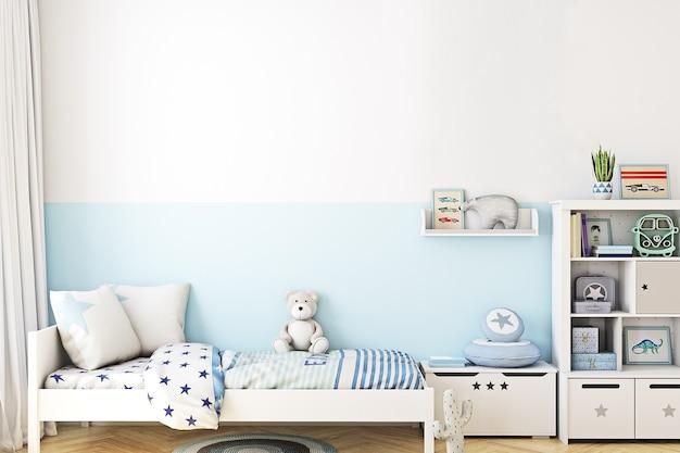 Sfondo camera blu per bambini