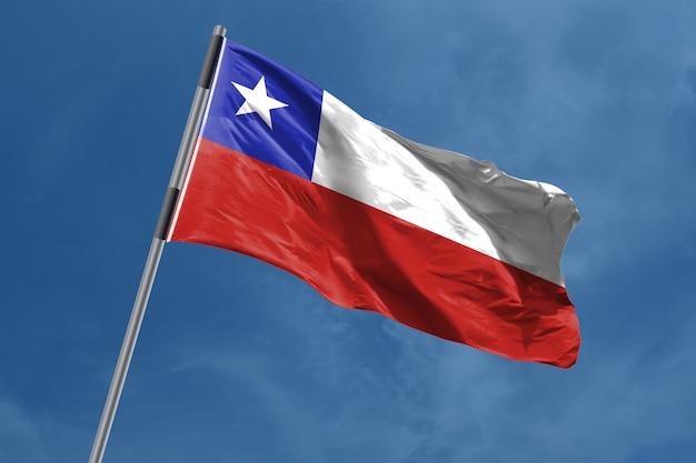 Bandiera del cile che ondeggia