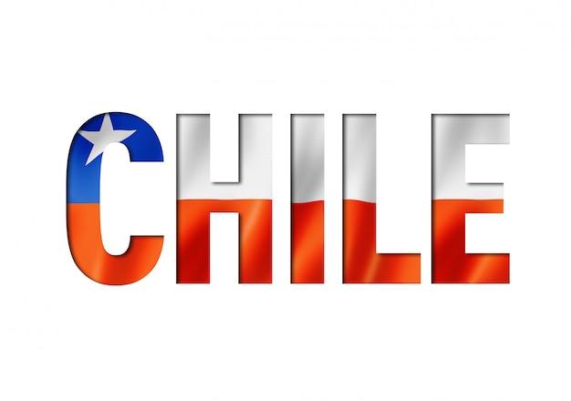 Carattere di testo bandiera cilena