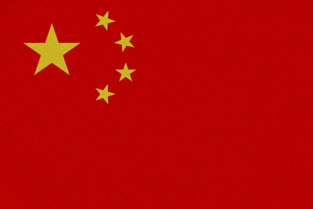 Bandiera cinese in tessuto