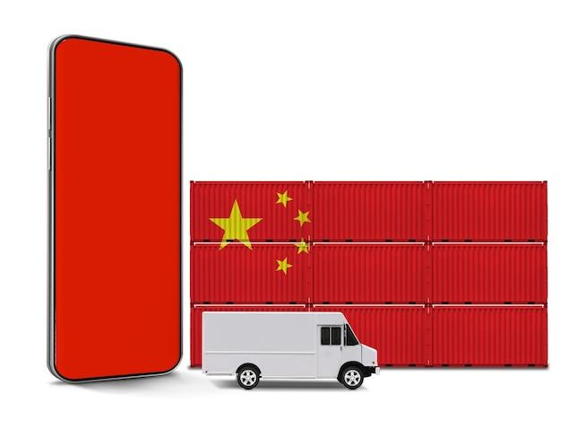 Concetto di logistica cinese