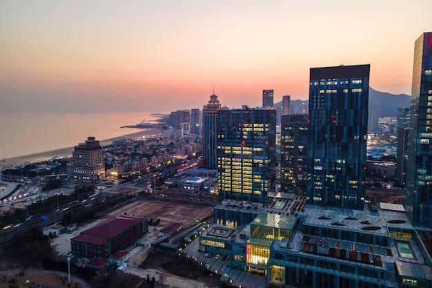 Cina qingdao city architecture landscape
