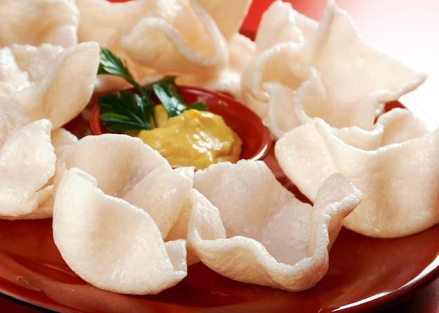 Cucina cinese. antipasti cinesi dim sum
